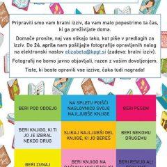 14-dnevni bralni izziv za osnovnošolce